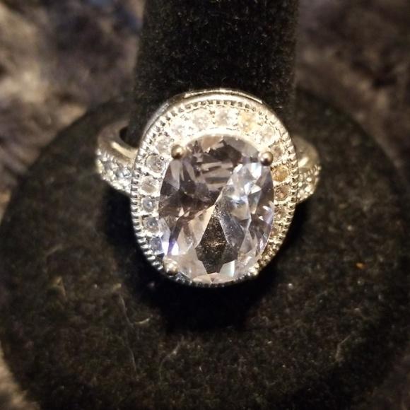 unknown Jewelry - Sterling silver faux diamonds